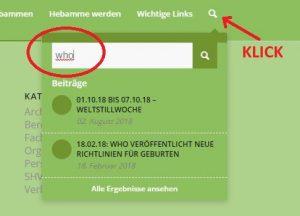 Hebammen Sachsen - Volltextsuche